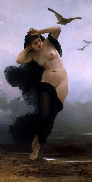 Nyx - La Nuit by William-Adolphe Bouguereau (1883)