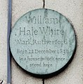 WilliamHaleWhiteRoundPlaque.JPG