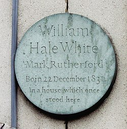 Photo of William Hale White stone plaque
