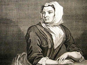 Sarah Malcolm - the engraving of Hogarth's sketch