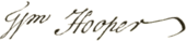 William Hooper signature.png