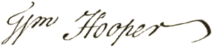 William Hooper - Image: William Hooper signature