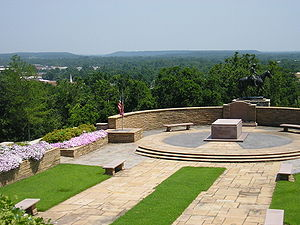 Claremore, Oklahoma - The Will Rogers Memorial overlooks Claremore's position in the foothills of the Ozark Mountains.