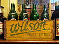 Wilson Fruit drinks crate with empty bottles, pic1.JPG