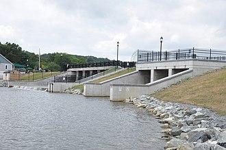 Mystic Dam - Image: Winchester MA Mystic Dam After 2010Modernization