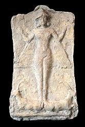 Winged naked goddess, likely Ishtar. From Larsa