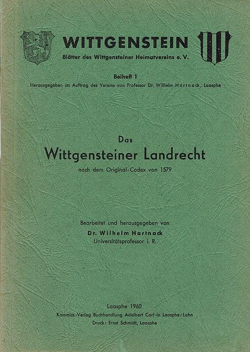 Wittgensteiner Landrecht 1