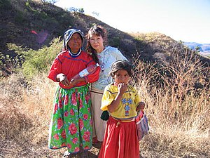 Photo of Wixarika (Huichol) woman and child on...