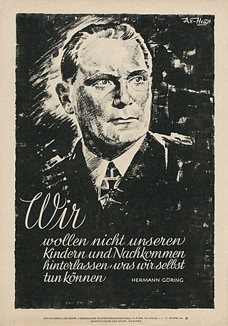 Nazi wall newspaper, Wochenspruch der NSDAP, issue of 11 January 1943. These posters were widely displayed in wartime Germany.