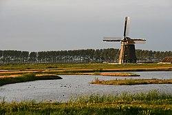 Wogmeer molen Nieuw Leven in avondlicht.jpg