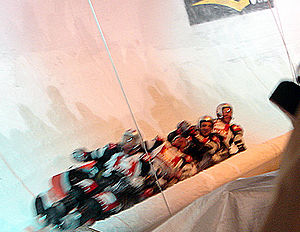 Wok racing - Georg Hackl's four-person woksled during the Wok World Championship 2006 in Innsbruck