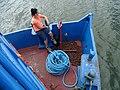 Woman aboard Ferry - Between Moyagalpa (Ometepe) and San Jorge - Nicaragua (30993642014).jpg