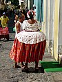 Woman in Hoop Skirt - Streets of Salvador - Brazil 01.jpg