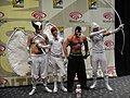 WonderCon 2011 Masquerade - DC's White Lantern Hawkman, Impulse, Green Arrow, and Bane (5594076221).jpg
