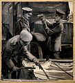 World War One; three soldiers sterilising water for the troo Wellcome V0015692.jpg