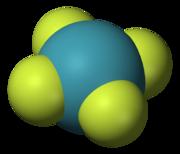 180px Xenon tetrafluoride 3D vdW