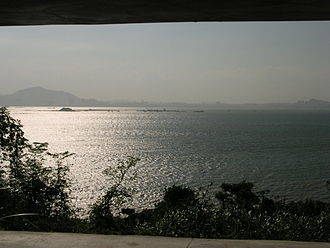 Lieyu - View of Xiamen from Lieyu.