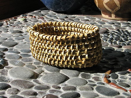 Traditional Yahgan basket, woven by Abuela Cristina Calderon, Chile, photo by Jim Cadwell Yahgan basket.jpg
