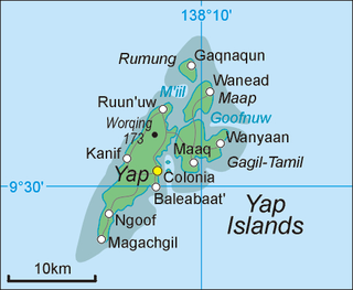 Yap Island in Federated States of Micronesia