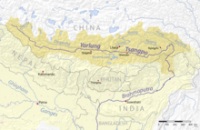 map of the yarlung tsangpo river