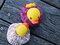 Yarn Bomb - ducks in the river (5519776686).jpg