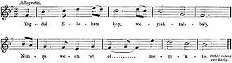 Yigdal - Sephardic Yigdal tune for festivals