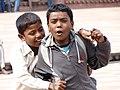 Young Boys Goofing in Courtyard - Jama Masjid Mosque - Fatehpur Sikri - Uttar Pradesh - India (12635025733).jpg