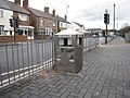 Ysbwriel-Litter bin in Station Road, Queensferry - geograph.org.uk - 2128025.jpg