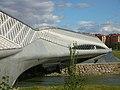 Zaha Hadid y su puente en la Expo Zaragoza 2009.jpg