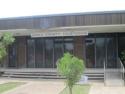 The Zavala County Courthouse in Crystal City.