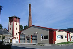 Factory system - Reconstructed historical factory in Žilina (Slovakia) for production of safety matches. Originally built in 1915 for the business firm Wittenberg and son.