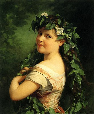 Fritz Zuber-Buhler - Image: Zuber Buhler Girl with wreath
