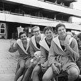 Zweminterland Nederland tegen Engeland te Groningen, Nederlandse dames 4x 100 me, Bestanddeelnr 916-5947.jpg