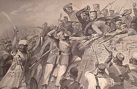 """Attack of the Mutineers on the Redan Battery at Lucknow, July 30th, 1857,.jpg"