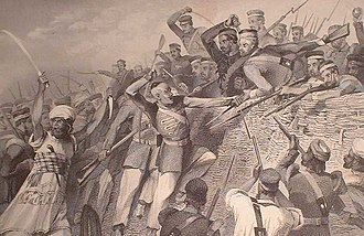 Mutiny - Attack of the Mutineers on the Redan Battery at Lucknow, July 30, 1857