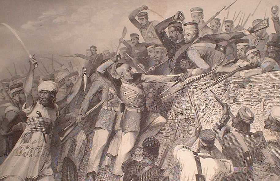 """""""Attack of the Mutineers on the Redan Battery at Lucknow, July 30th, 1857,"""