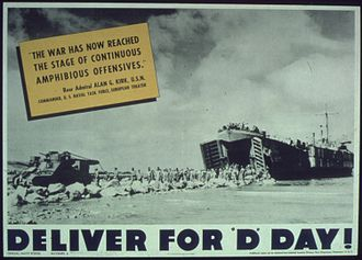 """Alan Goodrich Kirk - Quote, """"Deliver for D-Day!"""""""