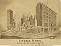 """""""Lindell Hotel. St. Louis, MO. Morning, March 31, 1867."""" (Ruins, after the fire of 30 March 1867).jpg"""