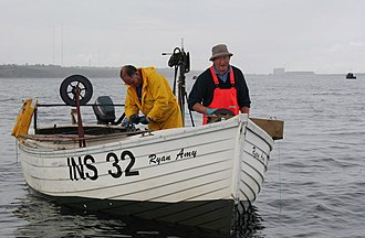 "Longline fishing - Image: ""Long lining"" for mackerel off Hopeman geograph.org.uk 1410170"