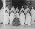 """The Fighting Irish,"" Good Shepherd Convent. Thirteen Irish nuns who had been interned in the Rangoon City Jail by... - NARA - 540050.tif"