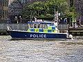 'Sir Robert Peel II' Metropolitan Police Boat near Bankside Pier, River Thames 02.jpg