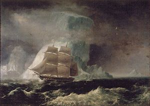 HMS Blonde (1819) - Image: 'The H. M. S. Blonde', by Robert Dampier, 1825, Washington Place