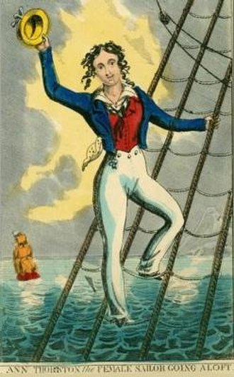 History of women in the United Kingdom - Ann Thornton Going Aloft, c. 1835