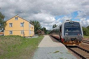 Trøndelag Commuter Rail - Åsen Station serves the village of Åsen