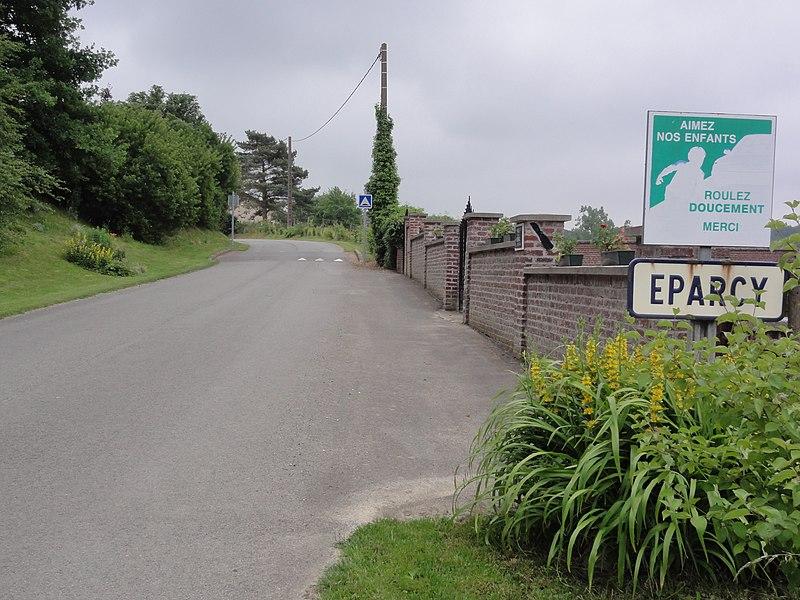 Éparcy (Aisne) city limit sign
