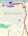Últimos kilómetros del primer tramo de la segunda etapa de la Vuelta Ciclista Chaná 2015.png