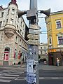 Ústí nad Labem, turistické značení před nádražím.JPG