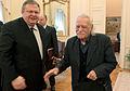 Συνάντηση Αντιπροέδρου της Κυβέρνησης και ΥΠΕΞ Ευ. Βενιζέλου με τον βουλευτή Επικρατείας του ΣΥΡΙΖΑ Μ. Γλέζο (12945997845).jpg