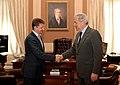 Συνάντηση ΥΠΕΞ Δ. Αβραμόπουλου με Υπουργό Μεταφορών Ρωσίας (8641791623).jpg