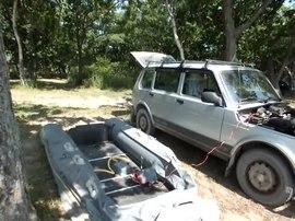 Файл:Надувание надувной лодки.ogv